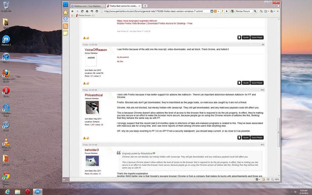Firefox-Best version for windows 7? - PentaxForums.com