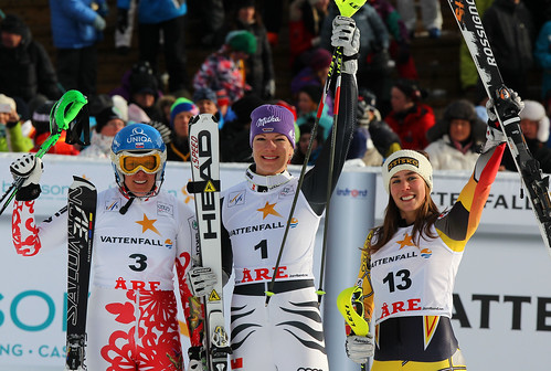 Canada's Marie-Michèle Gagnon finishes third in World Cup slalom in Are, Sweden.