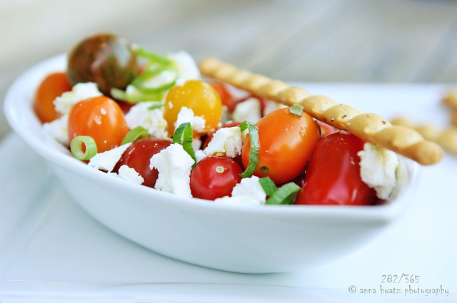 Tomato & Feta Salad With Grissini....282/365