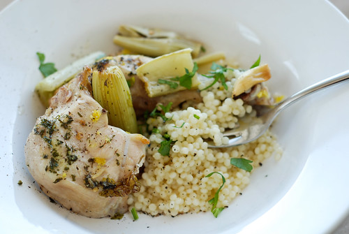 kana selleri ja kuskussiga/chicken with celery and couscous