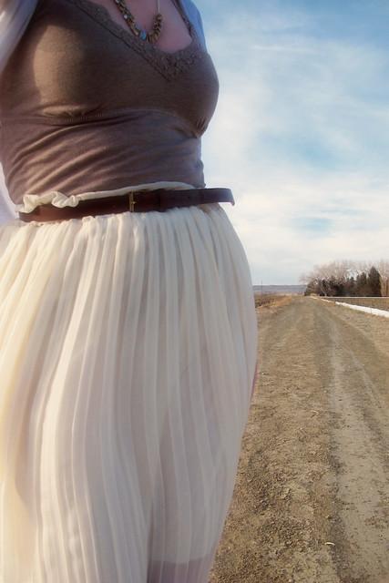 White skirt details