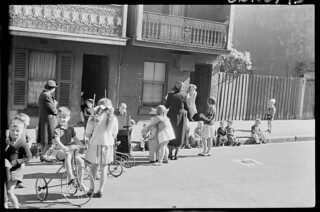 Salvation Army - Surry Hills Sunday morning service in street, Sept 1949, from Series 02: Sydney people & streets, 1948-1950, photographed by Brian Bird