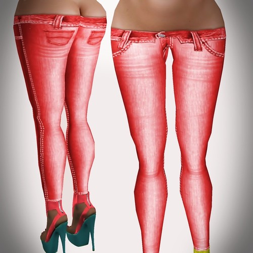 A&A Fashion Spring Jeans A red