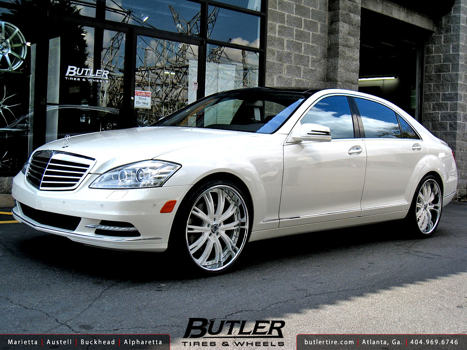 Mercedes s550 with 22in asanti da177 wheels a photo on for Mercedes benz s550 rims