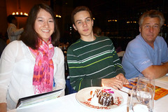 The birthday kids get a special treat at Fogo
