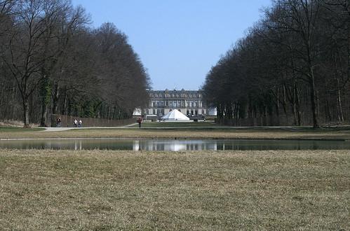 Schloss Herrenchiemsee - Blick entlang der Ostachse