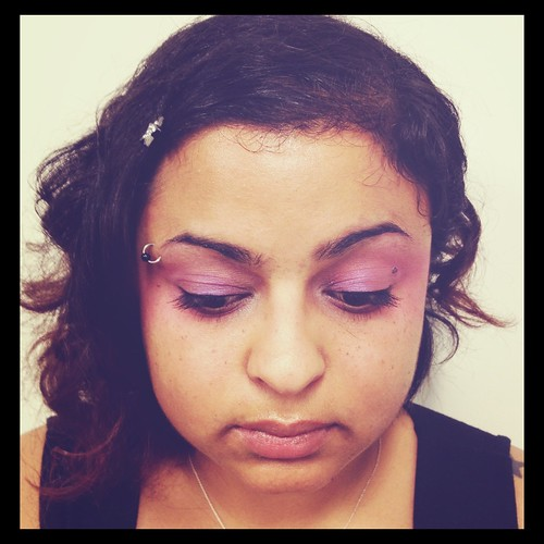 "82/366: My Effie Trinket makeup for ""The Hunger Games"""
