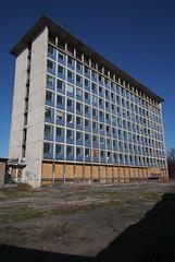 Blue Tiled Building