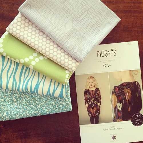 Gorgeous fabrics and a Figgy's pattern from last night's @drygoodsdesign opening!