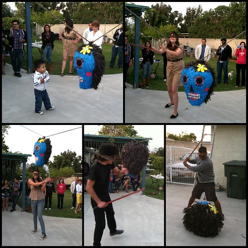 Family vs piñata