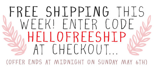 Free shipping this week!