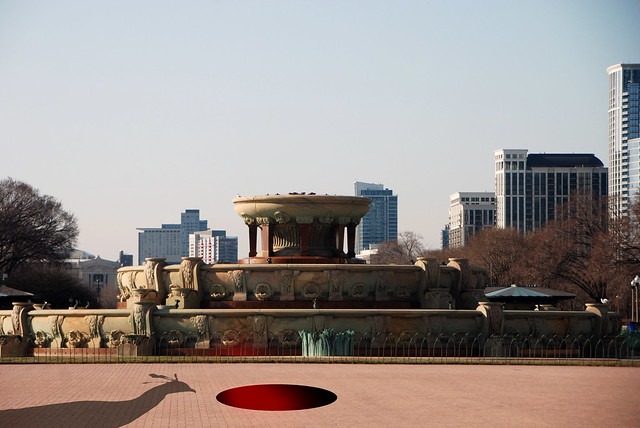 Himalayan Monal and Sudden Holes, Buckingham Fountain, Grant Park, Chicago, April 9, 2014 1 full