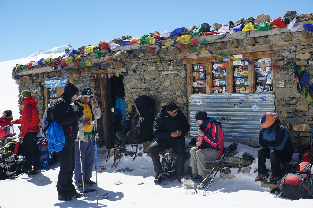 Tea House on the Thorong La Pass