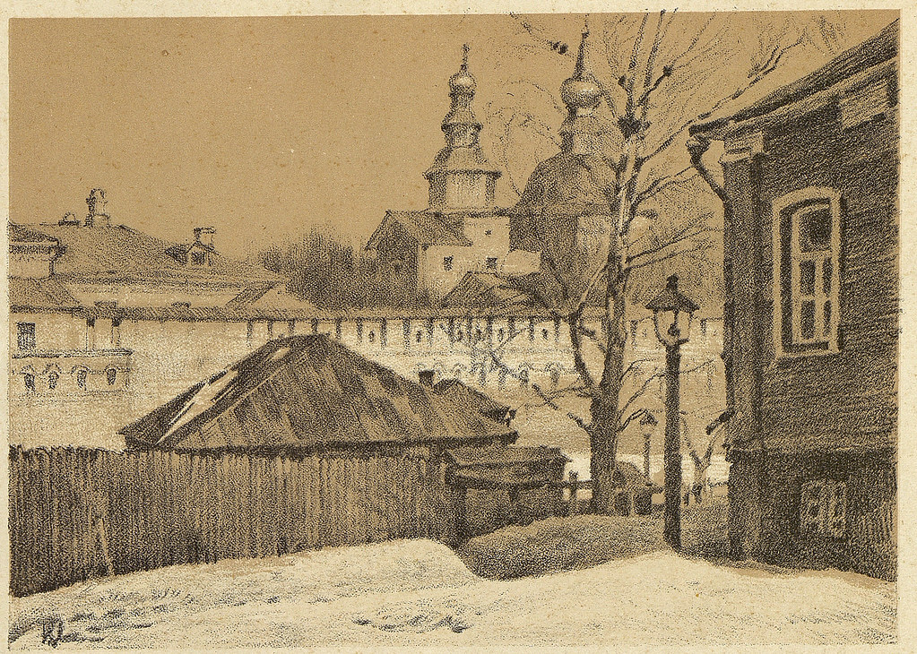 老莫斯科风景画4