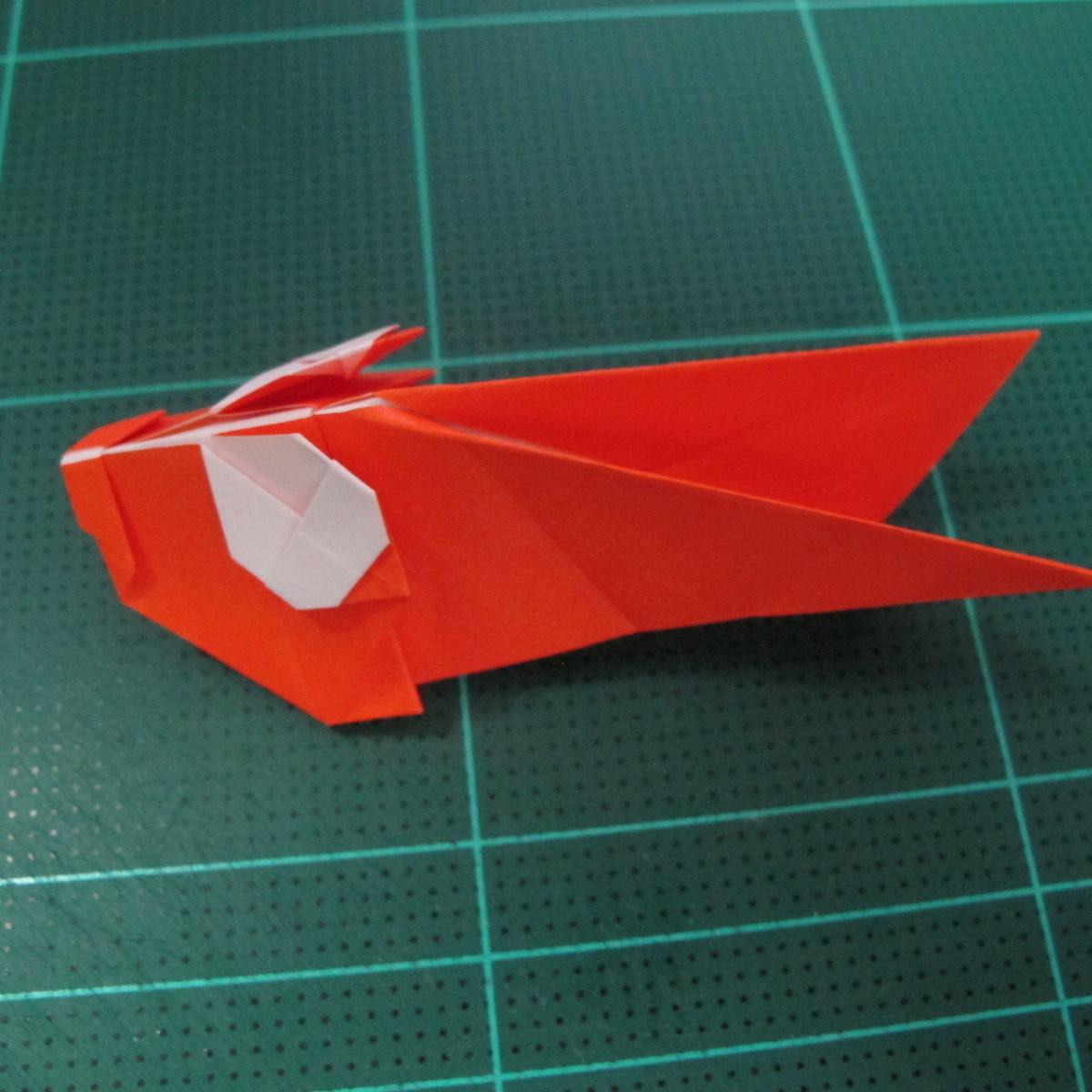 การพับกระดาษเป็นรูปปลาทอง (Origami Goldfish) 021