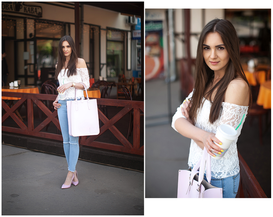 personal_style_blog_blogger_denim_ripped_jeans_lace_top_off_shoulder_street_style_candy_pumps
