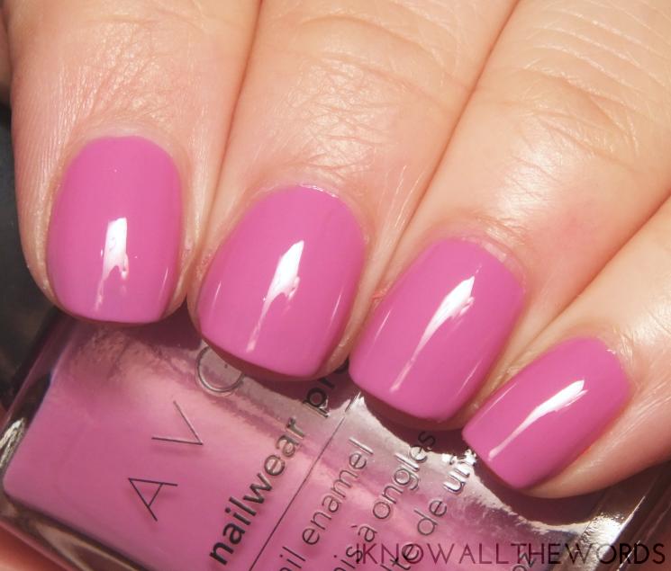 avon nailwear pro orchid splash