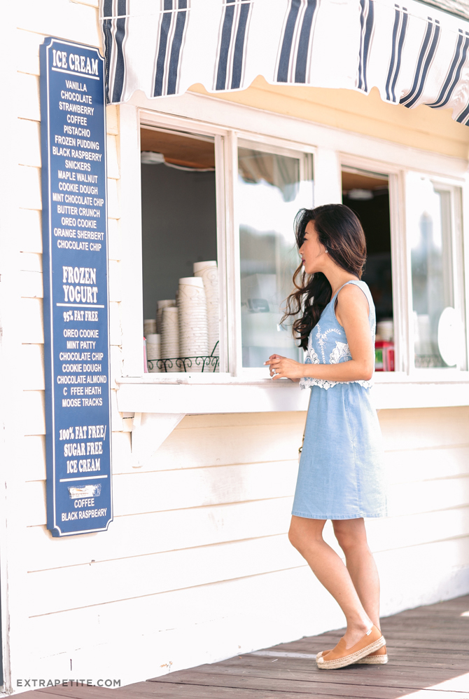 ice cream shop boston cute summer outfit soludos platforms
