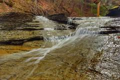 Waterfall in Indian Point, Lake Metroparks in Ohio