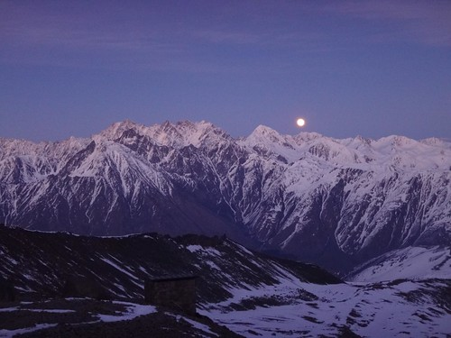 ski touring Kazbek