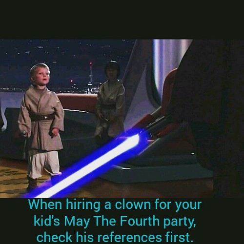 A pro tip for STAR WARS-loving parents. #maythe4thbewithyou #starwars