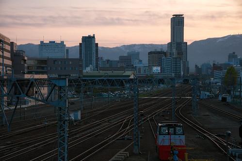 sunset spring sapporo jp 北海道 日本 hdr 札幌市