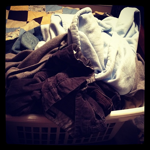 The pile of laundry I have to fold... Good thing I enjoy it!