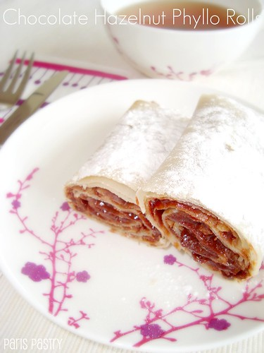 Chocolate Hazelnut Phyllo Rolls