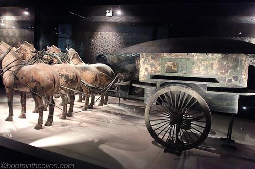 Qin Bronze Chariot (50 percent size)