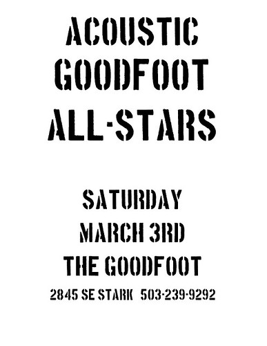 Acoustic Goodfoot All Stars