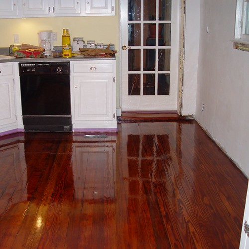 Kitchen Disaster: Floor Refinishing, Matching Old And New