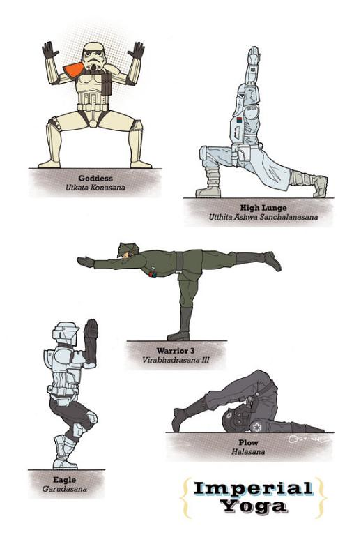 Yoga Star Wars imperial stormtropper