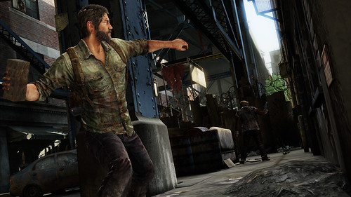 The Last of Us - Joel throws brick