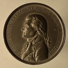 Thomas Jefferson Inaugural Medal obverse
