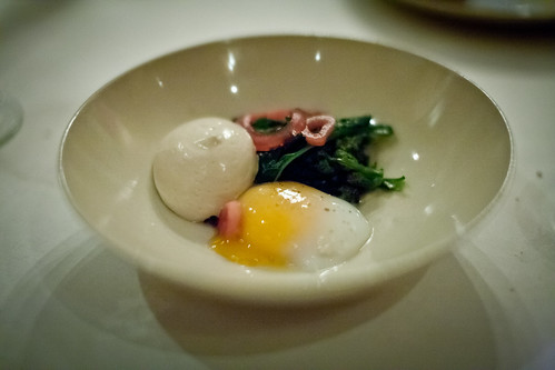 Purple Sprouting Broccoli, Duck egg & Anchovy