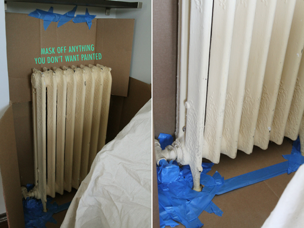 Before, Vanilla colored Radiator