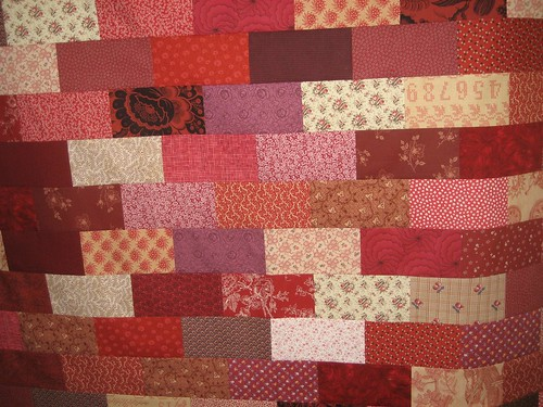 quilt of many reds