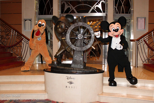 Meeting Mickey Mouse and Pluto