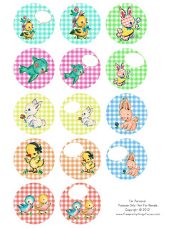 free vintage baby animal 2 in circles by FPTFY