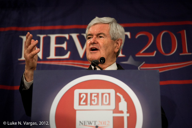 Gingrich at the Jackson Hilton Podium