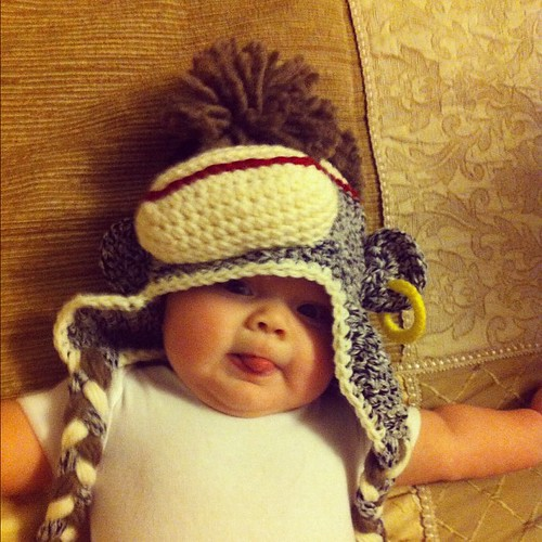 Everyone needs a sock monkey with a Mohawk and is a pirate hat.
