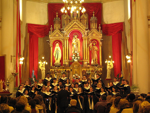 Hendricks Chapel Choir performs in the Basilica San Jose in Rosario, Argentina
