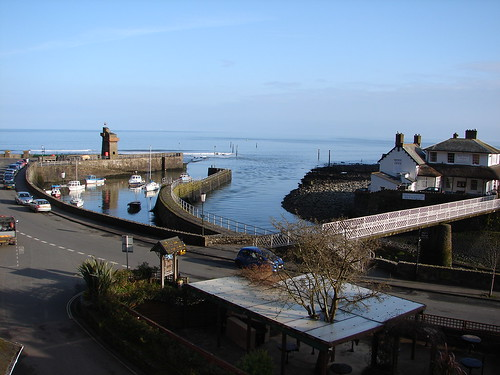 Lynmouth, from my window. The Bath Hotel.