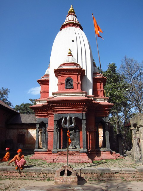 Sadhus Outside a Shiva Temple at Pashupatinath