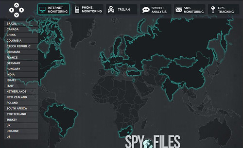 Spy Files - Mapping Companies Involved in Internet Monitoring