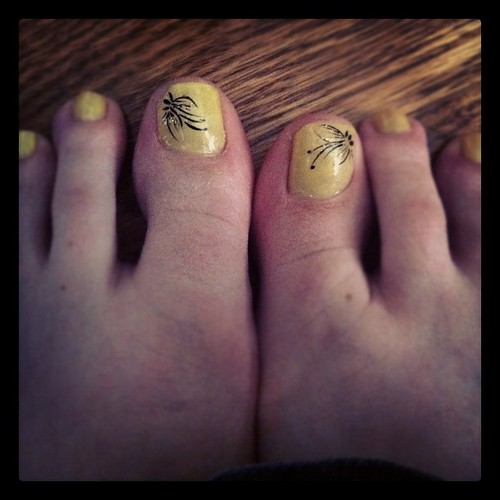 First pedicure in like two years. Did I really choose yellow?