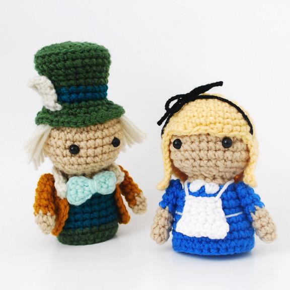 Alice and Mad Hatter - Crochet Amigurumi Plush Dolls ...