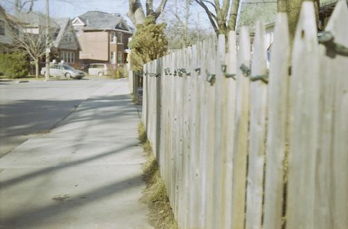 LED Lit Fence