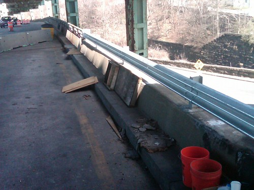 Fall River- Route 79, Guardrail Repair, March 23, 2012
