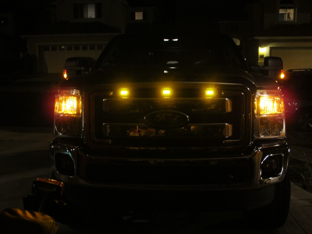 Led Clearance Grill Light Raptor Look Diesel Forum